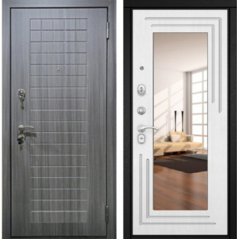 Металлическая входная дверь с зеркалом ДЗ-11