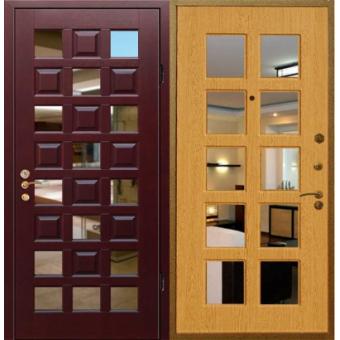 Металлическая входная дверь с зеркалом ДЗ-13