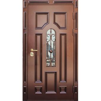 Металлическая дверь со стеклом С-8