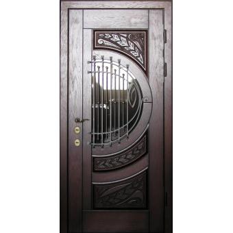 Металлическая входная дверь с ковкой 36