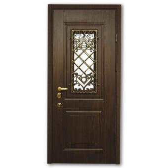 Металлическая входная дверь с ковкой 43