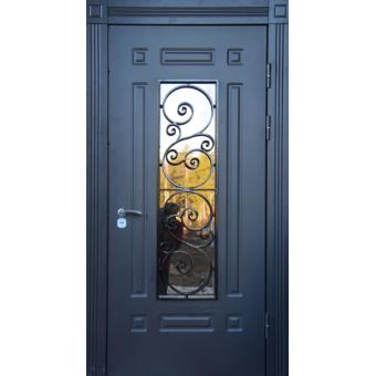 Металлическая входная дверь с ковкой 37