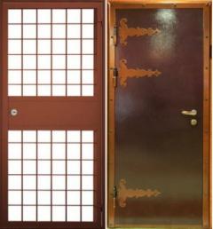 Стальная решетчатая дверь РД-1