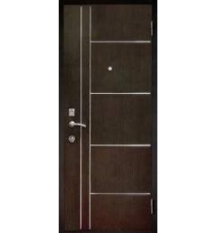 Входная металлическая дверь с молдингом МД-3