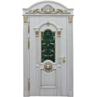 Металлическая дверь со стеклом С-9