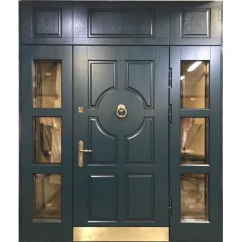 Металлическая дверь со стеклом С-10