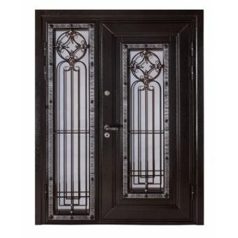 Металлическая дверь со стеклом С-11